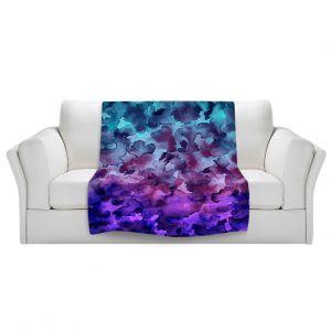Artistic Sherpa Pile Blankets | Julia Di Sano Floral Color V