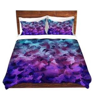 Artistic Duvet Covers and Shams Bedding | Julia Di Sano - Floral Color V