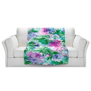 Unique Sherpa Blankets from DiaNoche Designs by Julia Di Sano - Floral Destiny 1