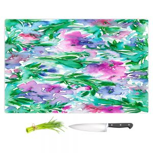 Artistic Kitchen Bar Cutting Boards | Julia Di Sano - Floral Destiny 1 | Flower Pattern