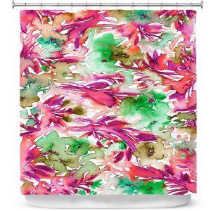 Premium Shower Curtains | Julia Di Sano - Floral Destiny 2 | Flower Pattern