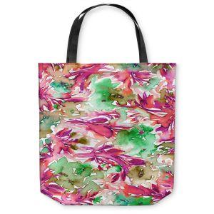 Unique Shoulder Bag Tote Bags | Julia Di Sano - Floral Destiny 2 | Flower Pattern