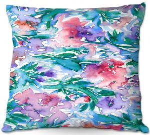Throw Pillows Decorative Artistic | Julia Di Sano - Floral Destiny 5 | Flower Pattern