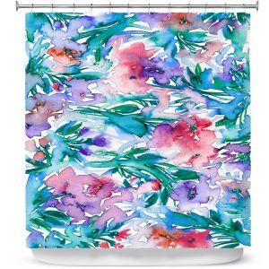 Premium Shower Curtains | Julia Di Sano - Floral Destiny 5 | Flower Pattern