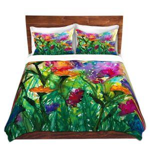 Artistic Duvet Covers and Shams Bedding | Julia Di Sano - Floral Insurgence I