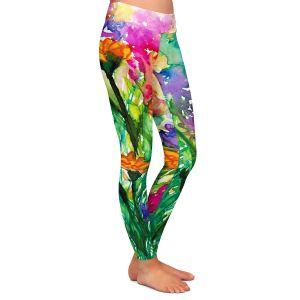 Casual Comfortable Leggings | Julia Di Sano - Floral Insurgence I
