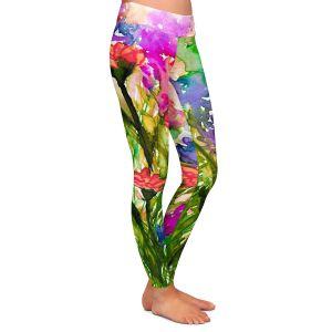 Casual Comfortable Leggings | Julia Di Sano - Floral Insurgence II