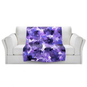 Artistic Sherpa Pile Blankets | Julia Di Sano - Floral Spray 12 | flower pattern abstract petal