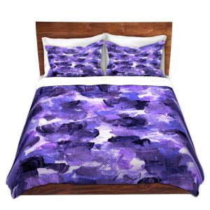 Artistic Duvet Covers and Shams Bedding   Julia Di Sano - Floral Spray 12   flower pattern abstract petal