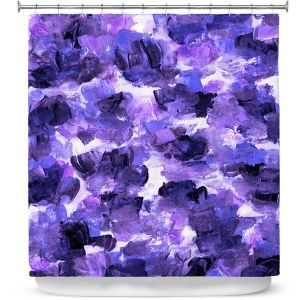 Premium Shower Curtains | Julia Di Sano - Floral Spray 12 | flower pattern abstract petal