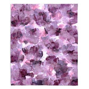 Decorative Fleece Throw Blankets | Julia Di Sano - Floral Spray 7 | flower pattern abstract petal