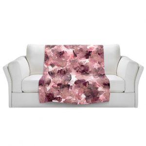 Artistic Sherpa Pile Blankets | Julia Di Sano - Floral Spray 8 | flower pattern abstract petal