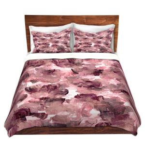 Artistic Duvet Covers and Shams Bedding | Julia Di Sano - Floral Spray 8 | flower pattern abstract petal