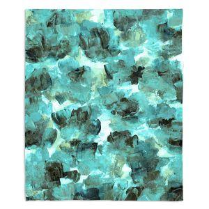 Artistic Sherpa Pile Blankets | Julia Di Sano - Floral Spray 9 | flower pattern abstract petal