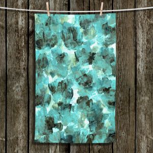 Unique Hanging Tea Towels | Julia Di Sano - Floral Spray 9 | flower pattern abstract petal