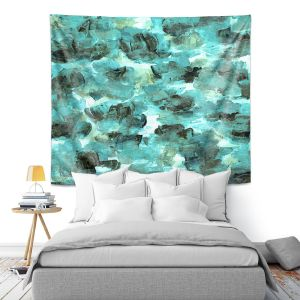 Artistic Wall Tapestry | Julia Di Sano - Floral Spray 9 | flower pattern abstract petal