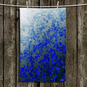 Unique Hanging Tea Towels   Julia Di Sano - Floral Wash Blue   Abstract Patterns Colorful Flowers