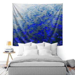 Artistic Wall Tapestry | Julia Di Sano - Floral Wash Blue