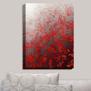 Decorative Canvas Wall Art | Julia Di Sano - Floral Wash Red