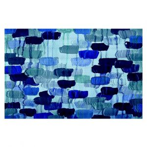Decorative Area Rug 4 ft x 6 ft from DiaNoche Designs by Julia Di Sano - Flower Brush Blue