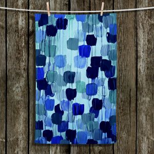Unique Hanging Tea Towels | Julia Di Sano - Flower Brush Blue | Abstract