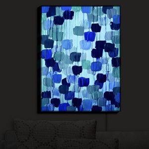 Nightlight Sconce Canvas Light   Julia Di Sano - Flower Brush Blue