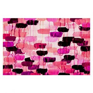 Decorative Area Rug 4 x 6 ft from DiaNoche Designs by Julia Di Sano - Flower Brush Pink