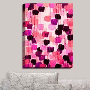 Decorative Canvas Wall Art | Julia Di Sano - Flower Brush Pink