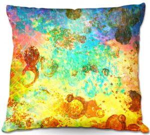 Decorative Outdoor Patio Pillow Cushion | Julia Di Sano - Fly Me to the Moon I