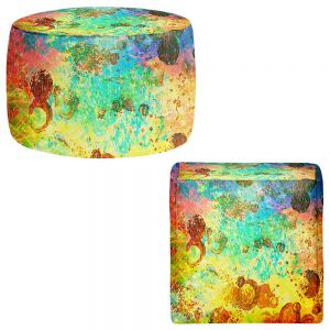 Round and Square Ottoman Foot Stools | Julia Di Sano - Fly Me to the Moon I