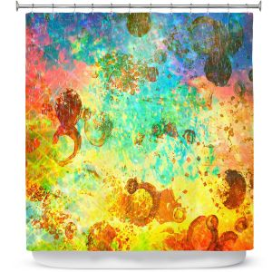 Premium Shower Curtains | Julia DiSano Fly Me to the Moon I