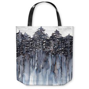 Unique Shoulder Bag Tote Bags   Julia Di Sano - Forest Trees Grey