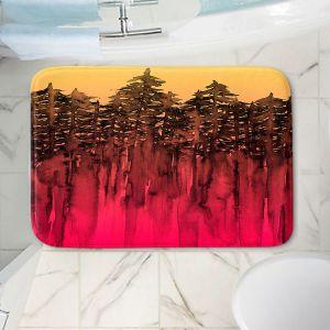 Decorative Bathroom Mats | Julia Di Sano - Forest Trees Hot PInk Tangerine