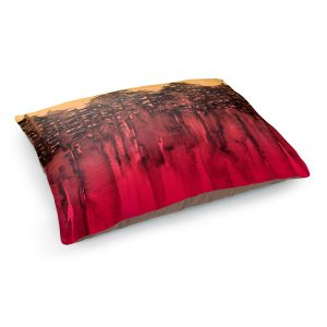 Decorative Dog Pet Beds | Julia Di Sano - Forest Trees Hot PInk Tangerine