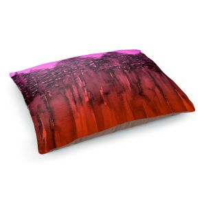 Decorative Dog Pet Beds | Julia Di Sano - Forest Trees Neon Orange Pink