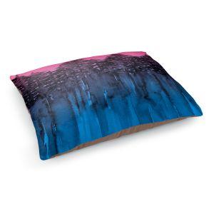 Decorative Dog Pet Beds | Julia Di Sano - Forest Trees Pink Blue