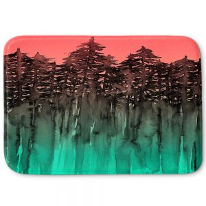 Decorative Bathroom Mats | Julia Di Sano - Forest Trees Pink Green
