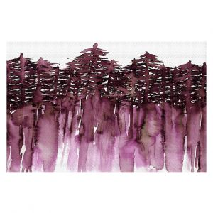 Unique Area Rug 2 x 3 Ft from DiaNoche Designs by Julia Di Sano - Forest Trees Purple