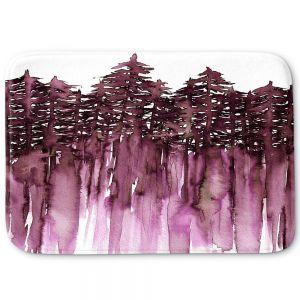 Decorative Bathroom Mats | Julia Di Sano - Forest Trees Purple