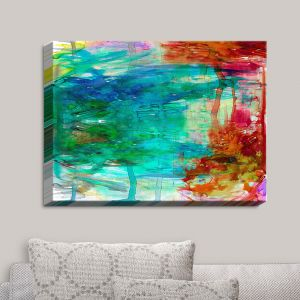 Decorative Canvas Wall Art | Julia Di Sano - Free Wheeling | Abstract Painting
