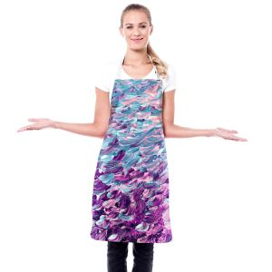 Artistic Bakers Aprons | Julia Di Sano - Frosted Feathers I | Abstract Colorful
