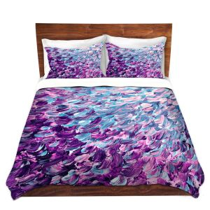 Artistic Duvet Covers and Shams Bedding | Julia Di Sano - Frosted Feathers I