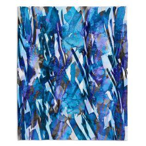 Artistic Sherpa Pile Blankets   Julia Di Sano - Frosty Bouquet Blue
