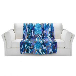Artistic Sherpa Pile Blankets | Julia Di Sano - Frosty Bouquet Blue