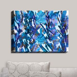 Decorative Canvas Wall Art | Julia Di Sano - Frosty Bouquet Blue | Abstract Painting
