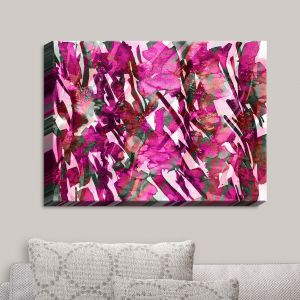 Decorative Canvas Wall Art | Julia Di Sano - Frosty Bouquet Pink | Abstract Painting