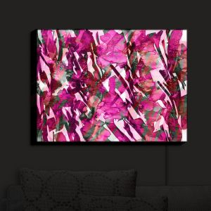 Nightlight Sconce Canvas Light   Julia Di Sano - Frosty Bouquet Pink   Abstract Painting