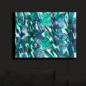 Nightlight Sconce Canvas Light | Julia Di Sano - Frosty Bouquet Turquoise | Abstract Painting