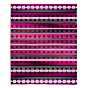 Artistic Sherpa Pile Blankets | Julia Di Sano - Heart Love Fuchsia Swirl | Pattern stripes shapes