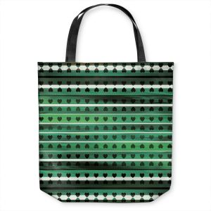 Unique Shoulder Bag Tote Bags   Julia Di Sano - Heart Love Midnight Jade   Pattern stripes shapes